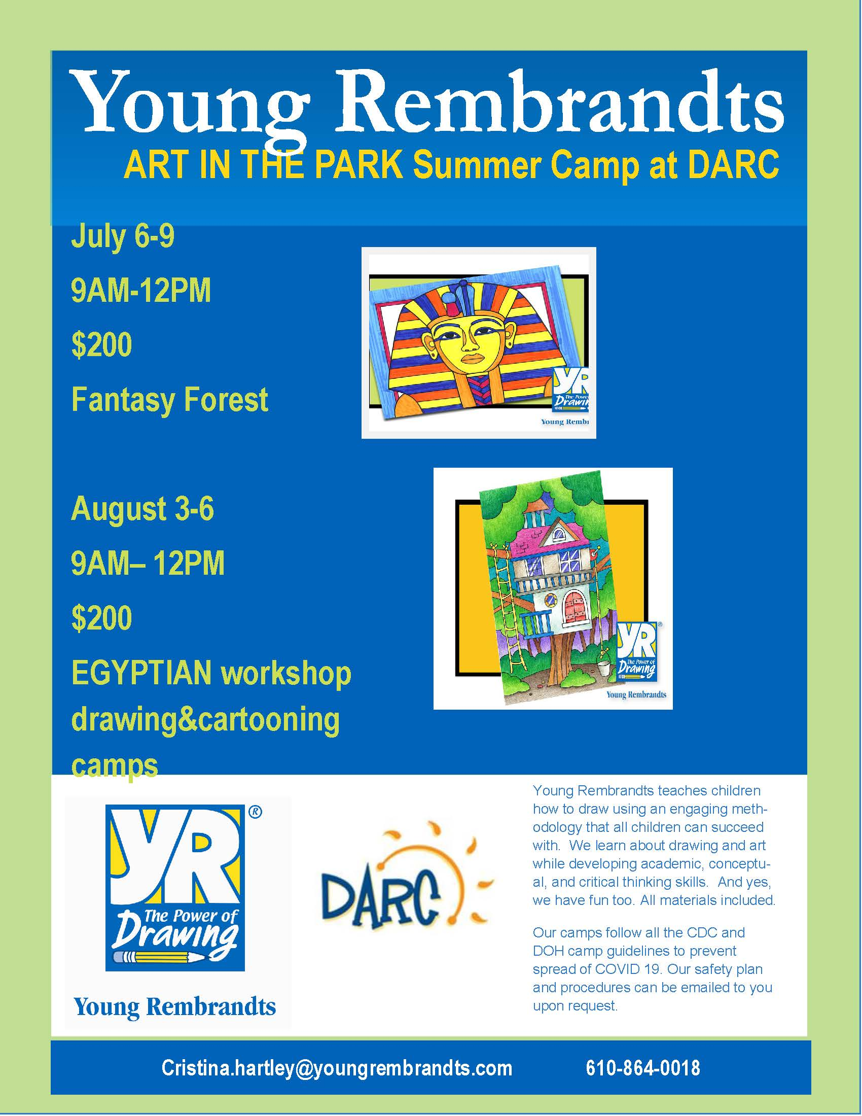 Art in the Park with DARC- Egyptian and Fantasy Forest